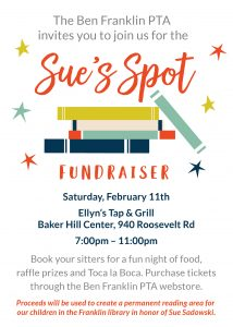 Sue's Spot Fundraiser @ Ellyns Tap and Grill